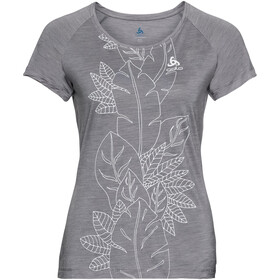 Odlo BL Concord Ondergoed bovenlijf Dames, grey melange-flower leaf print ss19